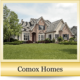 image of homes in the town of Comox, BC